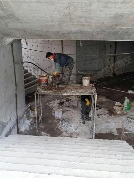 地下车库堵漏施工